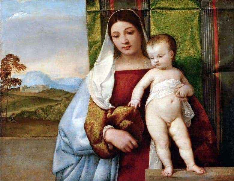 Description of the painting by Titian Vecellio Gypsy Madonna