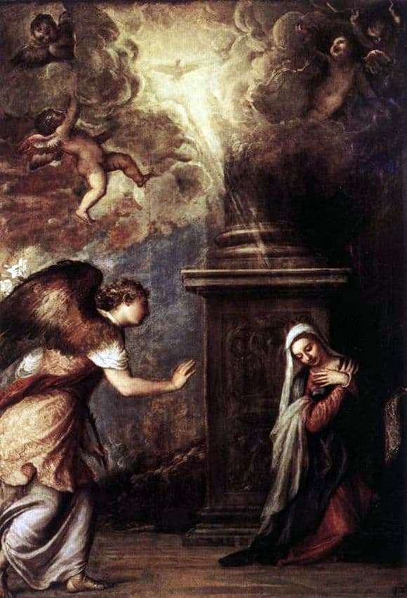 Description of the painting by Titians Annunciation