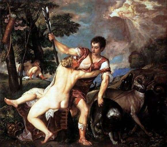 Description of the painting by Titian Venus and Adonis