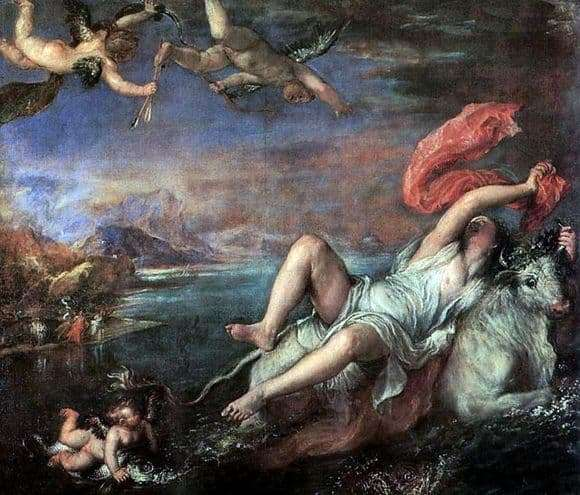 Description of the painting by Titian Vecellio The Abduction of Europe