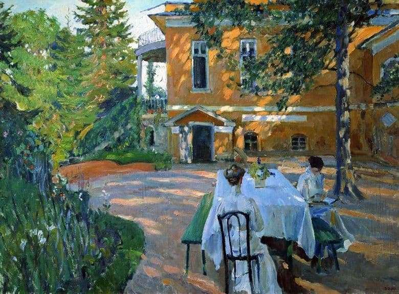 Description of the painting by Sergey Vinogradov Summer