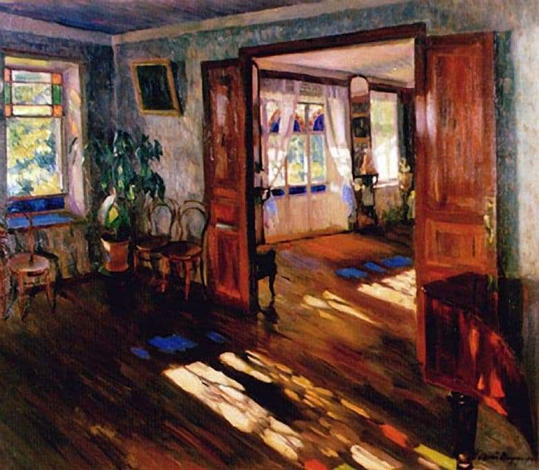 Description of the painting by Sergei Vinogradov In the house