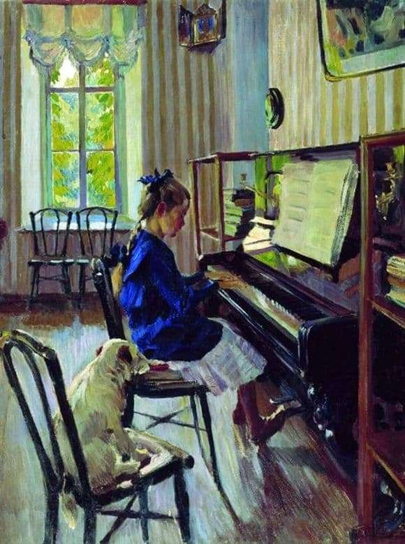 Description of the painting by Sergei Vinogradov Plays
