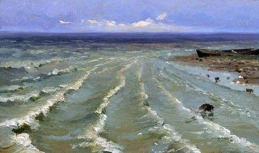 Description of the painting by Efim Volkov Sea
