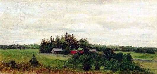 Description of the painting by Efim Volkov Farm
