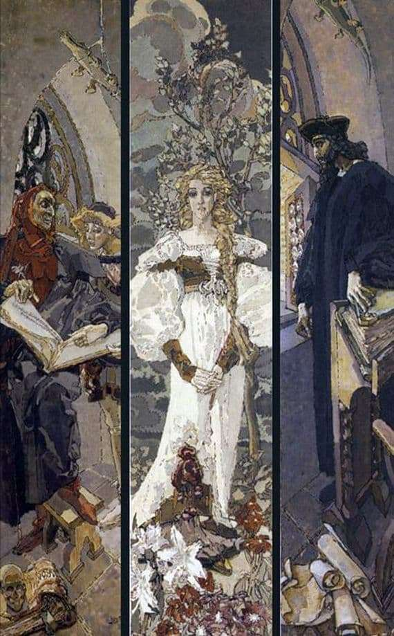 Description of the painting by Mikhail Vrubel Faust