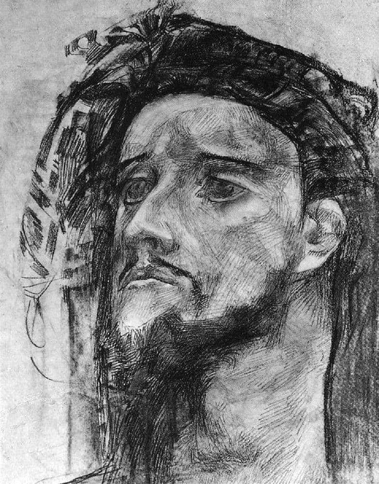 Description of the painting by Mikhail Vrubel The head of the prophet