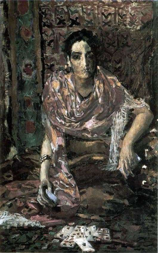 Description of the painting by Mikhail Vrubel The Fortune Teller