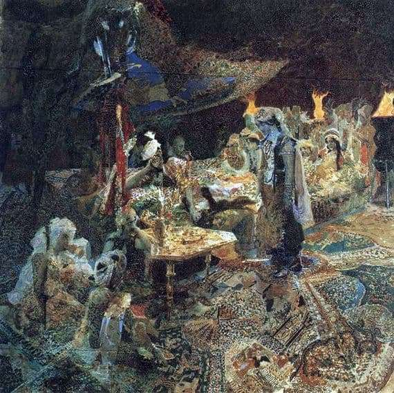 Description of the painting by Mikhail Vrubel Oriental Tale