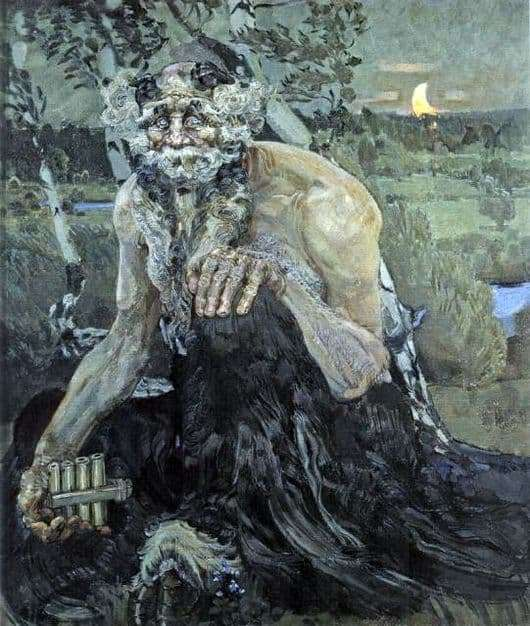 Description of the painting by Mikhail Vrubel Pan