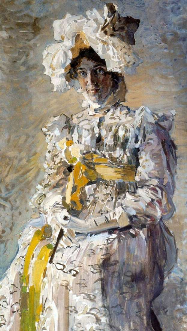 Description of the painting by Mikhail Vrubel Portrait of Zabela Vrubel