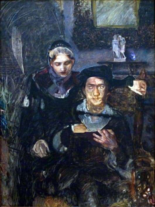Description of the painting by Mikhail Vrubel Hamlet and Ophelia