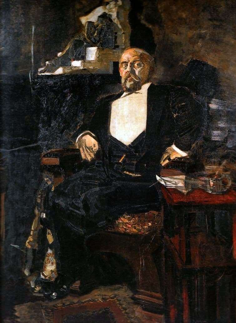 Description of the painting by Mikhail Vrubel Portrait of S. I. Mamontov