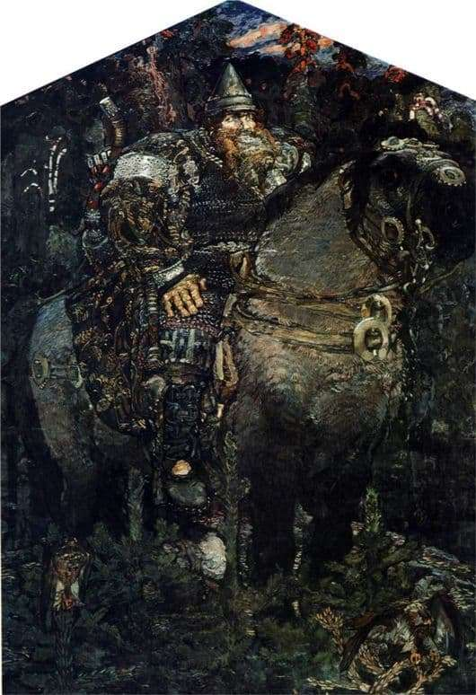 Description of the painting by Mikhail Vrubel Bogatyr