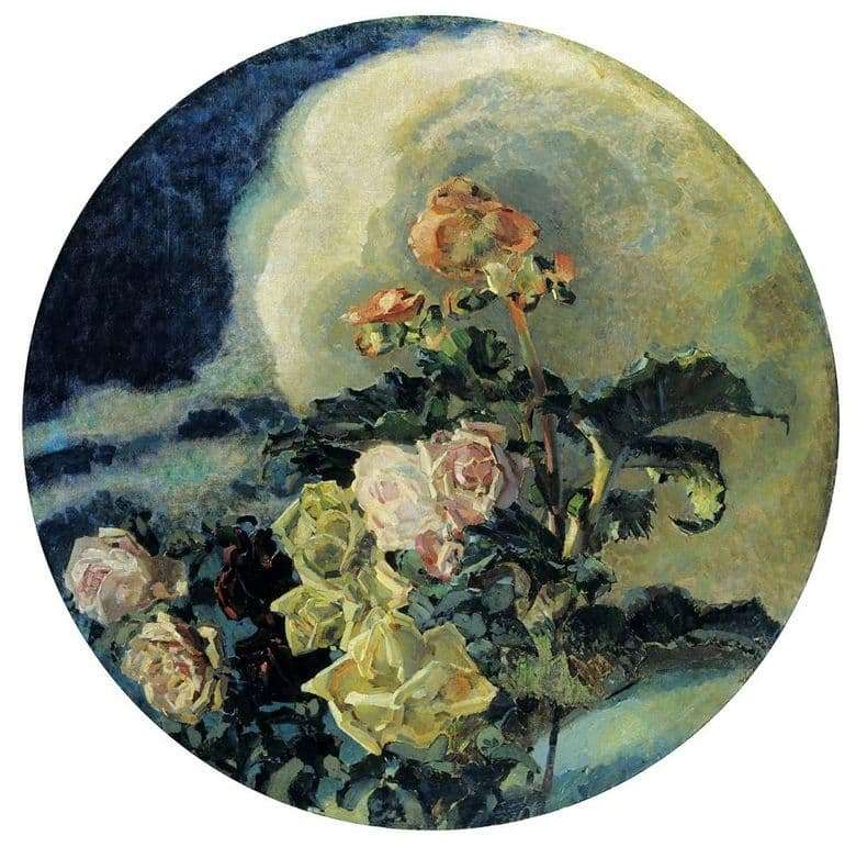 Description of the painting by Mikhail Vrubel Roses and Lilies