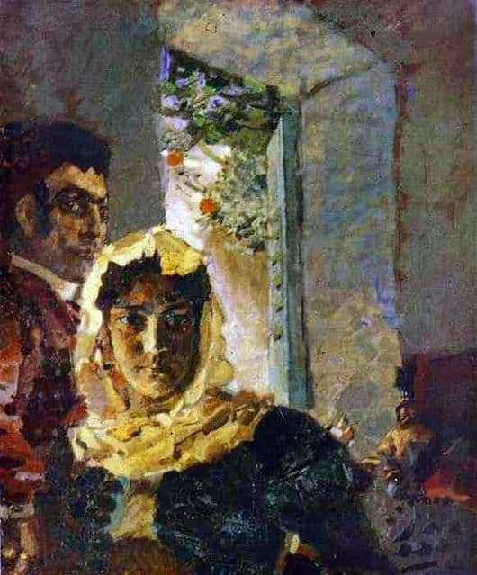 Description of the painting by Mikhail Vrubel Spain