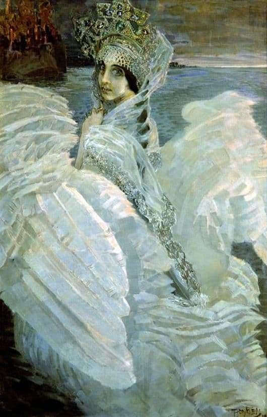 Description of the painting by Mikhail Vrubel The Swan Princess