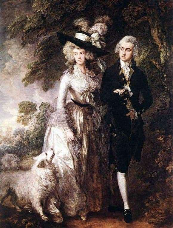 Description of the painting by Thomas Gainsborough Morning Walk