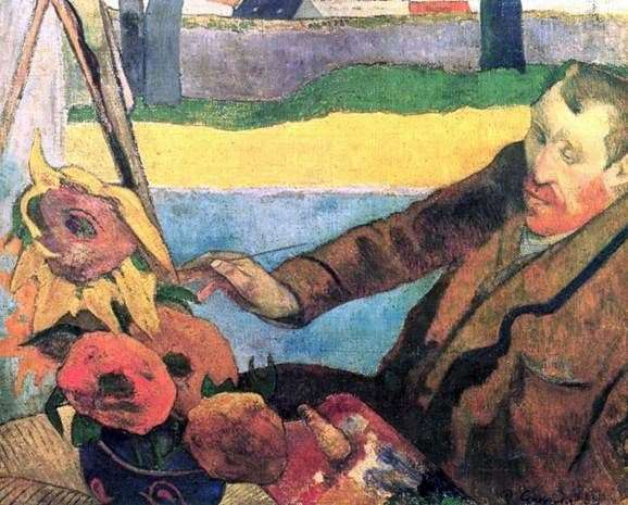 Description of the painting by Paul Gauguin Portrait of Van Gogh
