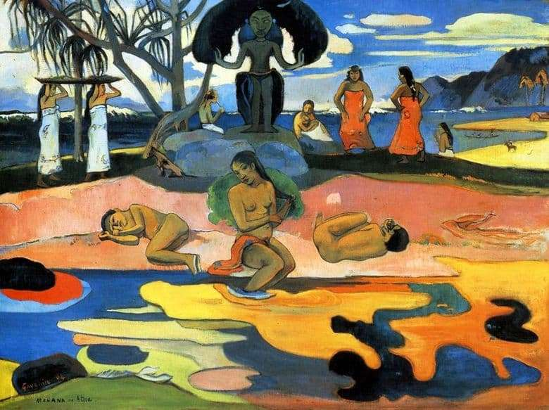Description of the painting by Paul Gauguin Day of the deity