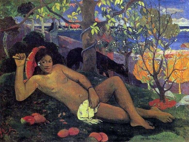 Description of the painting by Paul Gauguin The Kings Wife