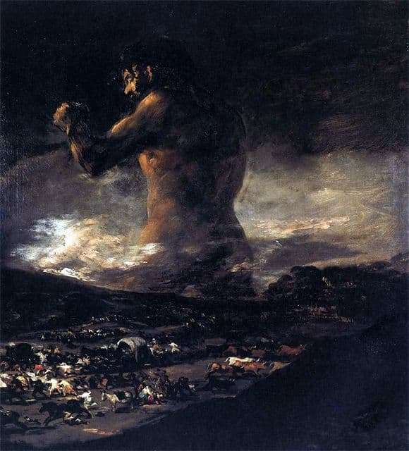 Description of the painting by Francisco de Goya Colossus