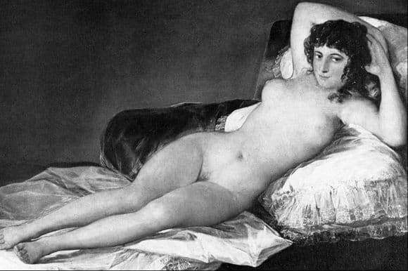 Description of the painting by Francisco de Goya Mach naked