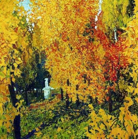 Description of the painting by Alexander Golovin Autumn