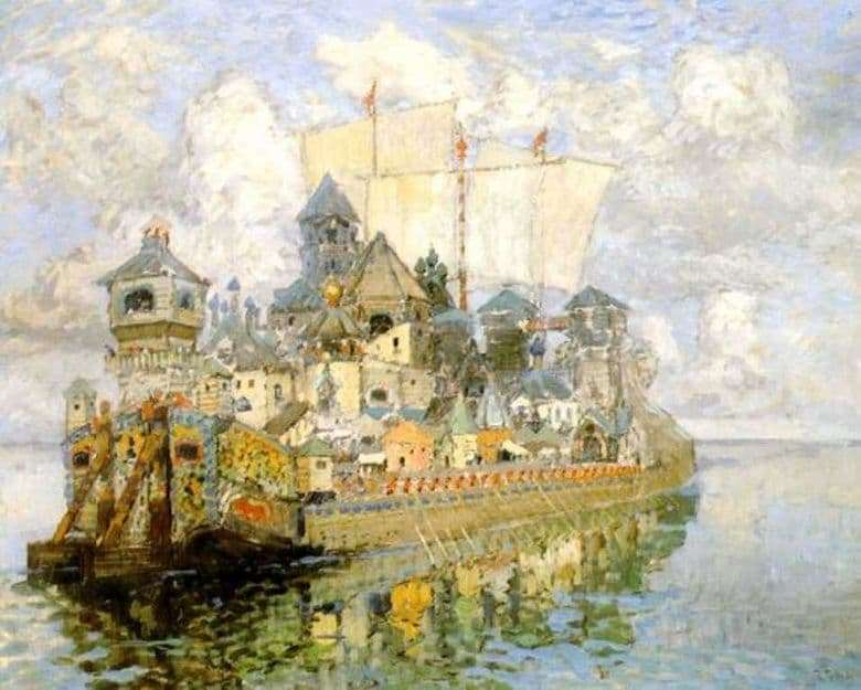 Description of the painting by Konstantin Gorbatov Invisible City of Kitezh