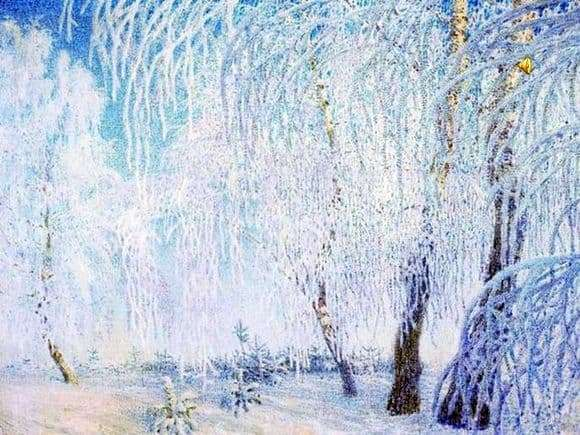 Description of the painting by Igor Grabar Hoarfrost