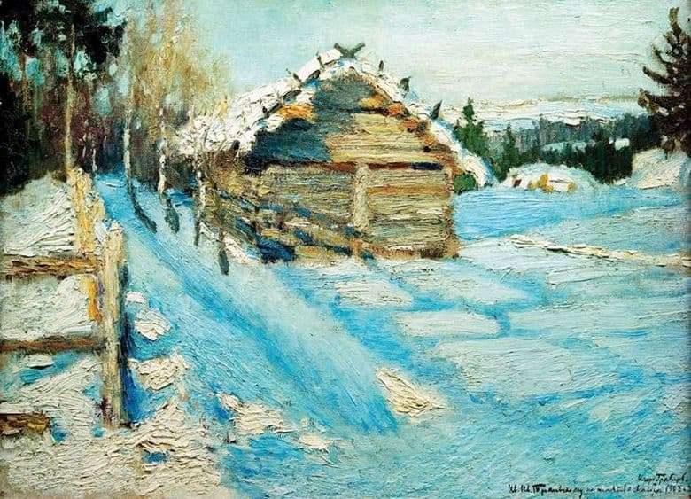 Description of the painting by Igor Grabar Winter Evening