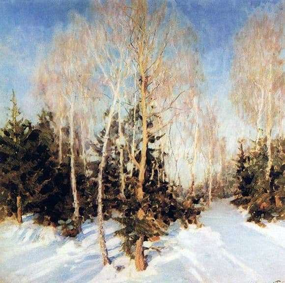 Description of the painting by Igor Grabar Winter Landscape