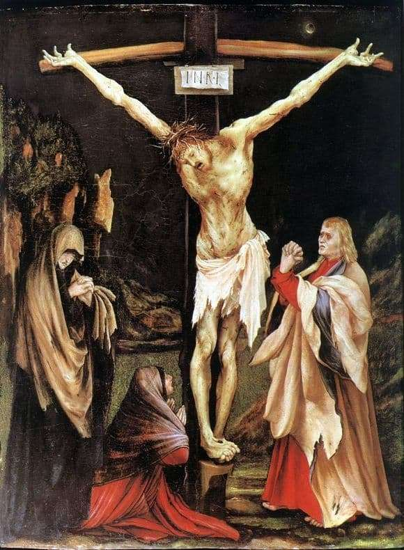 Description of the painting by Mathias Grünewald Crucifixion