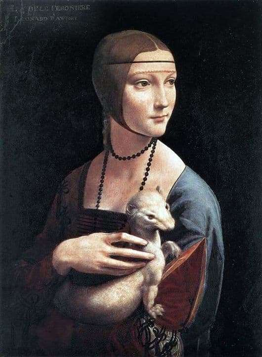 Description of the painting by Leonardo da Vinci Lady with an Ermine
