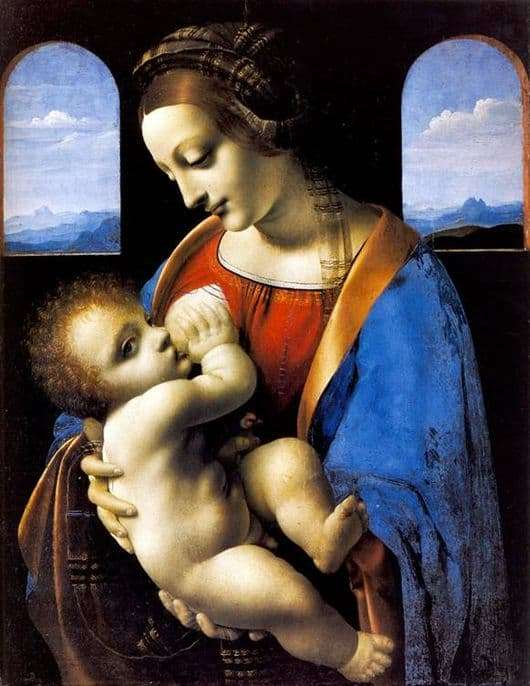 Description of the painting by Leonardo da Vinci Madonna