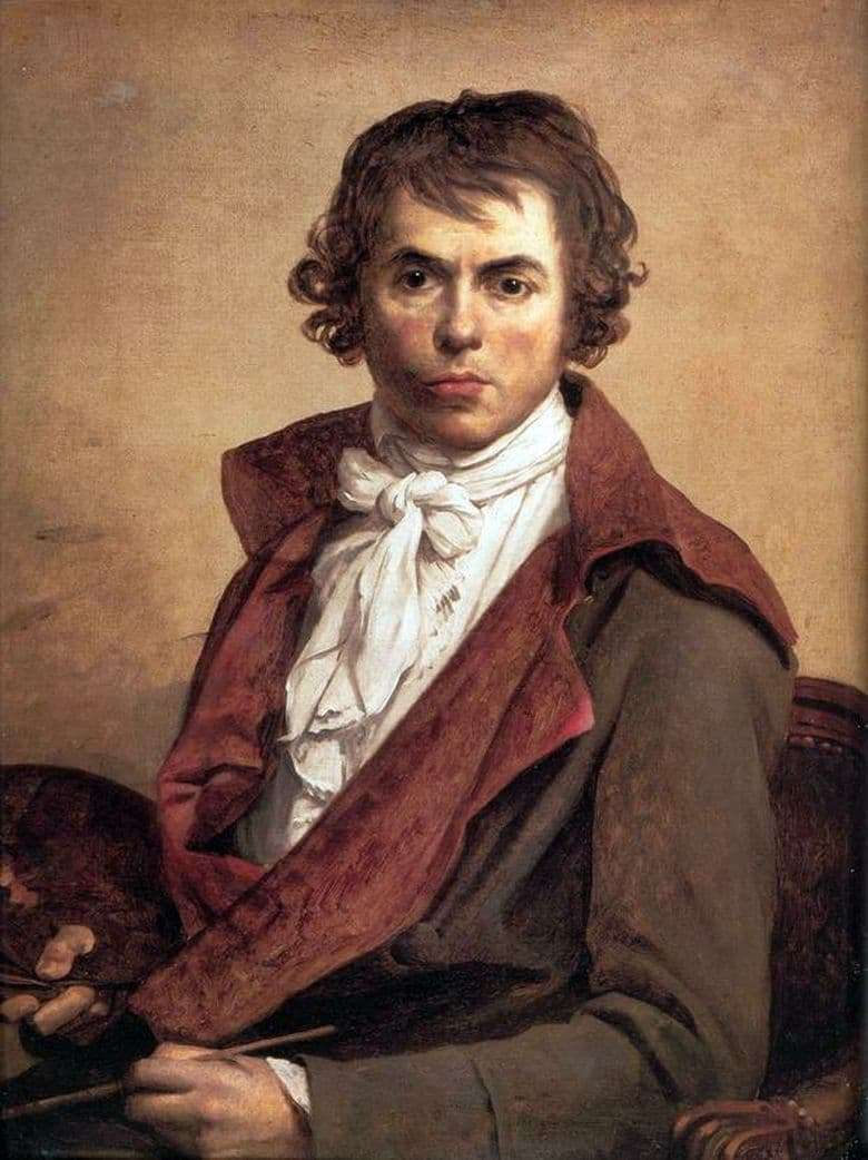 Description of the painting by Jacques Louis David Self portrait (1794)