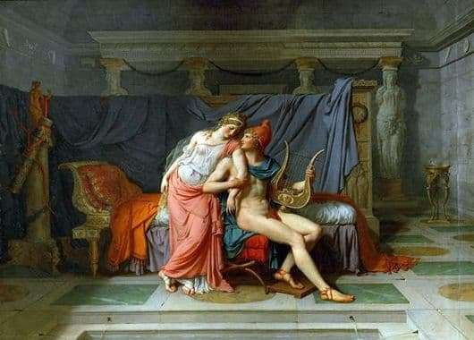 Description of the painting by Jacques Louis David Love of Paris and Helen