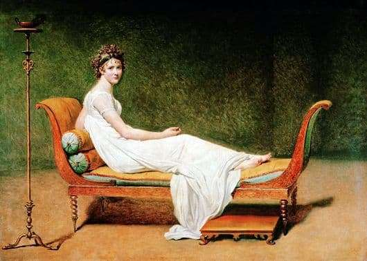 Description of the painting by Jacques Louis David Madame Recamier