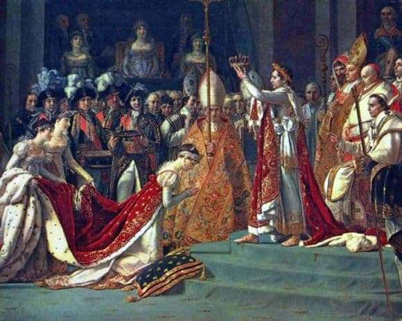Description of the painting by Jacques Louis David The Coronation of Napoleon and Empress Josephine