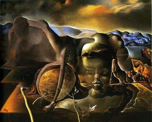 Description of the painting by Salvador Dali The infinite mystery
