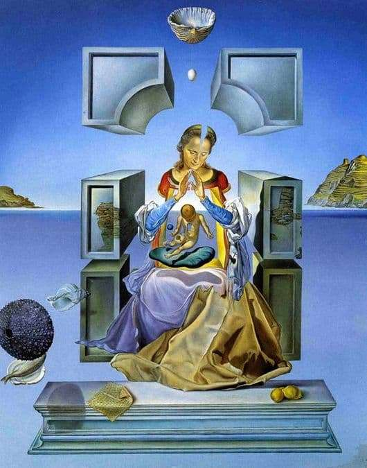 Description of the painting by Salvador Dali Madonna of Port Ligat
