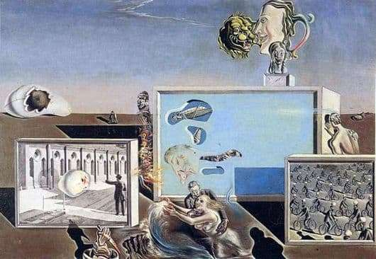 Description of the painting by Salvador Dali Enlightened pleasures
