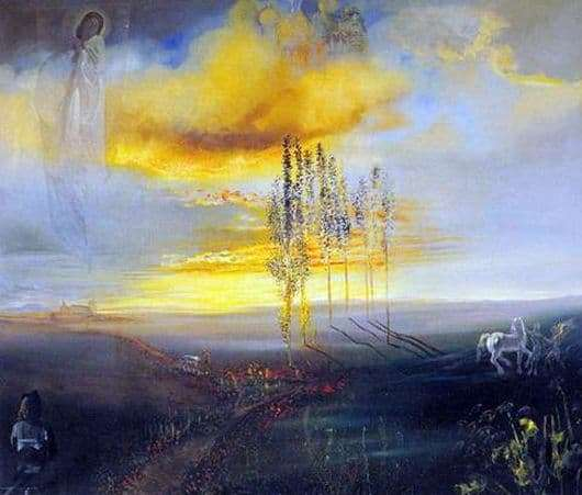 Description of the painting by Salvador Dali Castle Gala in Púbole