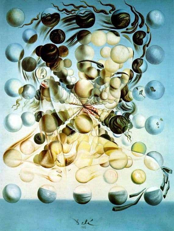 Description of the painting by Salvador Dali Galatea spheres