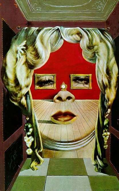 Description of the painting by Salvador Dali The face of Mae West