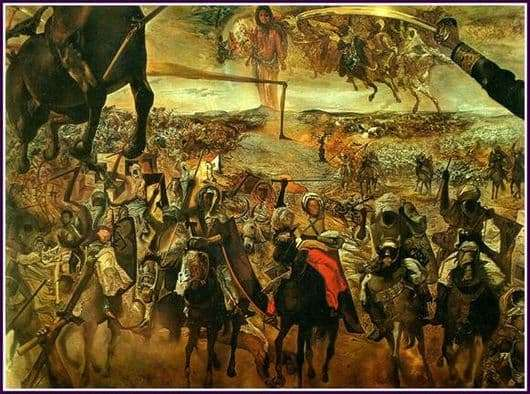Description of the painting by Salvador Dali Battle of Tetuan