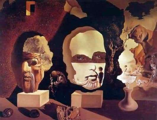 Description of the painting by Salvador Dali Three Ages