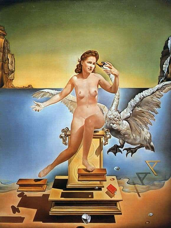 Description of the painting by Salvador Dali Atomic Leda