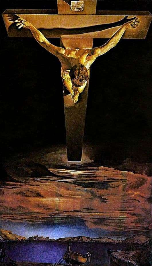 Description of the painting by Salvador Dali Crucifixion of Christ from St. John