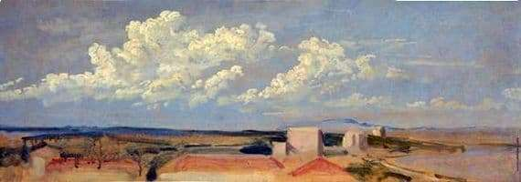 Description of the painting by Alexander Ivanov Clouds over the coast